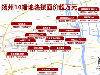 刚刚!扬州4幅万元地块摇号结果出炉,绿城、中海等房企成功拿地!