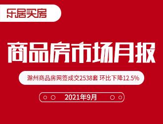 滁州楼市9月报:商品房网签成交2538套 环比下降12.5%