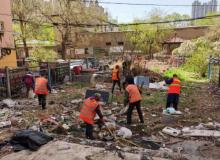 清出 6 车垃圾杂物,哈尔滨民生路 136 号院干净了!