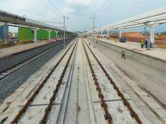 赣深铁路轨道铺到河源东站,广东段5月底铺完!
